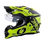 O'NEAL   Motorradhelm   Enduro Motorrad   Ventilationsöffnungen für maximalen Luftstrom & Kühlung, ABS-Schale, integrierte Sonnenblende   Sierra Helmet R   Erwachsene   Schwarz Neon Gelb   Größe M