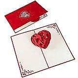 PaperCrush® Pop-Up Karte 3D Herz - Romantische Geburtstagskarte für Sie und Ihn, Besondere Liebeskarte zum Hochzeitstag, Jahrestag oder Geburtstag für Frauen und Männer, Handgemachte Herzkarte
