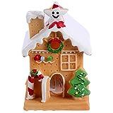 BESPORTBLE Weihnachten Lebkuchenhaus Kuchen Topper Führte Licht Schnee Dorfhaus Weihnachten Kuchen Dekorationen