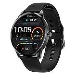 LIEBIG Smartwatch Herren, fitnessuhr mit Schrittzähler IP68 Wasserdicht Sportuhr mit Pulsuhr Blutdruckmessgerät Schlafmonitor Damen Herren Armbanduhr für Android iOS (Schwarz)