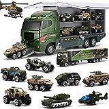 Coolplay Militär Spielzeug Panzer Spielzeug Hubschrauber für Jungen Battle Armee Autos für Kinder