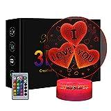 3d Illusion Lampe, Ich Liebe Dich Geschenke Für Männer, Geschenke Für Frauen, Jahrestag Geschenk, Beste Jahrestag Geschenk, Geburtstag Geschenk Valentinstag Geschenk(i Love You)