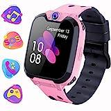 Kinder Smartwatch, Kind Uhr Telefon mit Zwei Wege Gespräch MP3 Kamera Rechner Rekorder und SOS Spiel Uhr für 3-15 Jahre alt Jungen Mädchen Geburtstags Geschenke (X9 Spiel MP3-Pink)