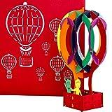 Pop Up Karte 'Ballonfahrt im Heißluftballon' – Ballonflugkarten - 3D Geburtstagskarten, Ballonkarten als Hochzeitskarten als Geschenk, Gutschein, Deko & Geschenkverpackung zu Hochzeit & Geburtstag