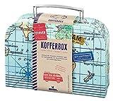 moses 82440 Fernweh Koffer Allzweckbox   Für Geldgeschenke und kleine Reise-Utensilien, blau, One Size