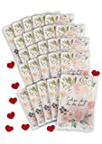 von Rafenstein Fruchtgummiherzen 25 x 10g - Schön, dass du da bist - als Gastgeschenke Hochzeit und Vintage Hochzeitsdeko. Gummibärchen Hochzeit