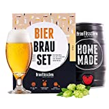 braufaesschen  Bierbrauset zum selber brauen   Pils im 5 Liter Fass   In 7 Tagen fertig Männer, Freund oder Vater
