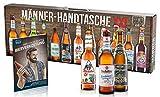 KALEA Männerhandtasche XXL, 12 Biere von Privatbrauereien aus Deutschland, Geburtstagsgeschenk für Männer und Frauen die gerne Biere verkosten