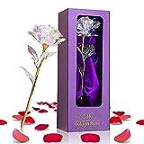 24K Gold Rose Geschenk für Frauen, Geburtstagsgeschenk für Mama/Mutter/Frau/Freundin, Muttertagsgeschenk