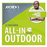 Jochen Schweizer Arena All-In-Outdoor Erlebnis-Box für 2 I Erlebnis-Gutschein Hochseil-Klettergarten + Flying Fox XL Parcours + Sky Jump I Jochen Schweizer Geschenkbox Hochseilgarten + Seilbahn + Jump