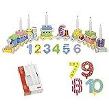 Goki Geburtstagszug Zahlen 1-10 10er Set Kerzen weiß - Die LuLuGoS