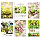 Edition Seidel Set 12 Premium Osterkarten mit Umschlag (2x6 = 12 Doppelkarten mit Briefumschlag) Karte Postkarte Ostern (20166z)