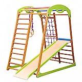 Kinder zu Hause Fitness-Studio 'Babywood' Holzspielplatz, Kletterwand, Kinder zu Hause aus Holz, Turnwand, Sprossenwadn