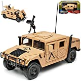 Hummer Humvee H1 Militär Beige Dessert Arme USA Military Police 1/18 Auto World Modell Auto