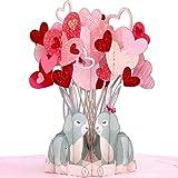 LIEBESSA 3D Pop-Up Karte 'Ich Liebe Dich' - So sagen Sie 'I Love You' - Liebeskarte zum Hochzeitstag, Jahrestag, Geburtstag , Verlobung - Grußkarte, Geschenkkarte