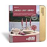 Jochen Schweizer Erlebnis-Box Candle-Light-Dinner für 2, über 80 Standorte in Deutschland, Romantisches Geschenk für 2 Personen in Goldener Geschenkbox
