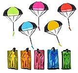 Libershine Fallschirm Spielzeug Kinder, 10 Stück Hand Werfen Fallschirm Outdoor Parachute Kinderdrachen Fallschirmspielzeug Flugspielzeug für Kinder Weihnachten Geschenk