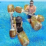 RHESHIN WOSNN 4 STÜCKE Aufblasbare schwimmende Reihe Spielzeug, Erwachsene Kinder Schwimmbad Party Wassersport Schlacht Log Flöße Schwimmt Fahrt Boot Floß (1)
