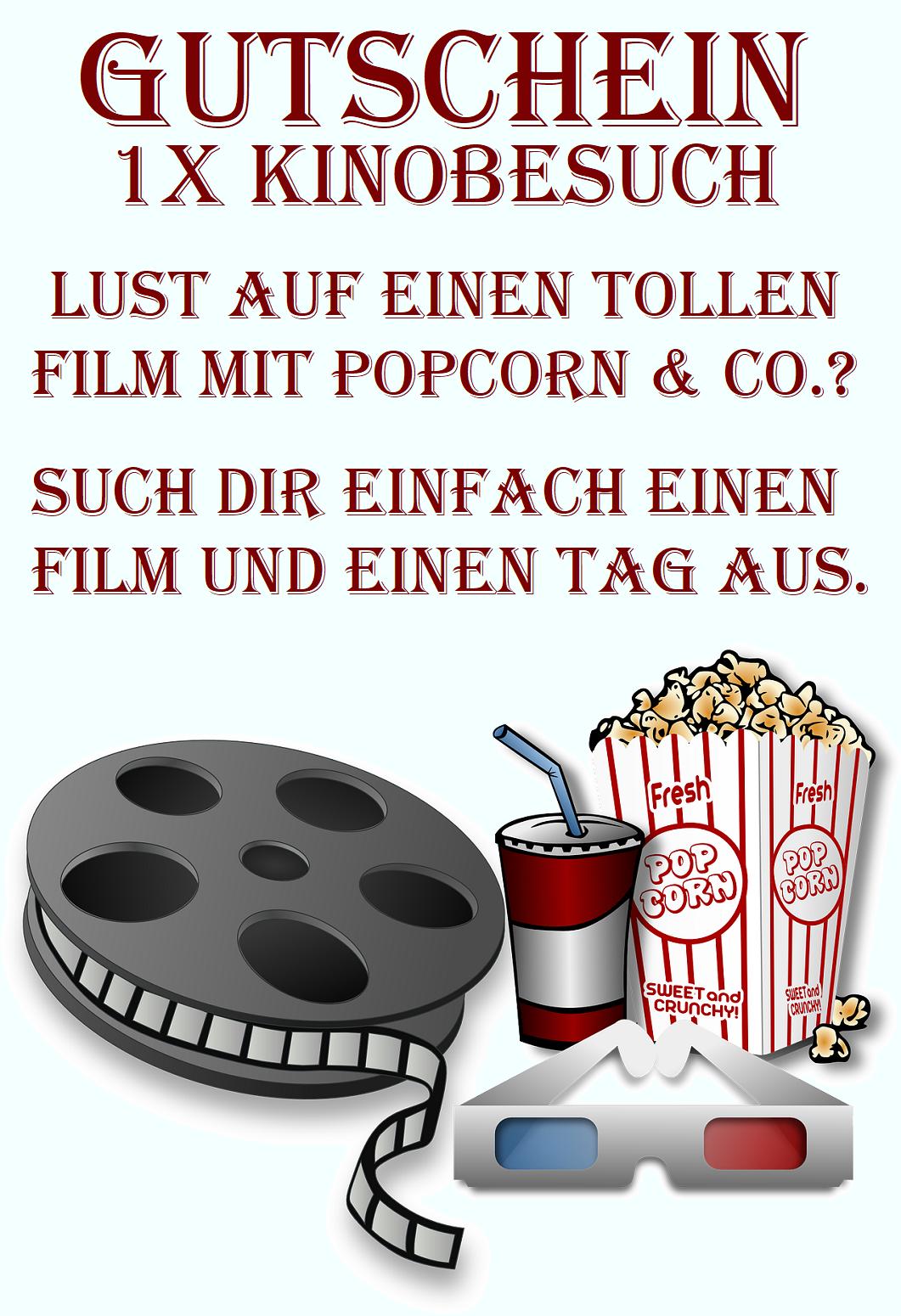Kinobesuch Gutscheinvorlagen Downloaden Verschenken