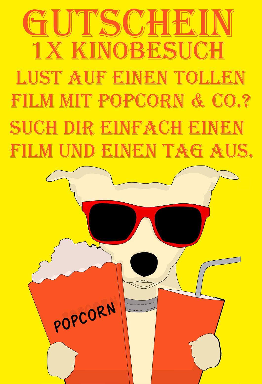 Kinobesuch - Gutscheinvorlagen downloaden & verschenken
