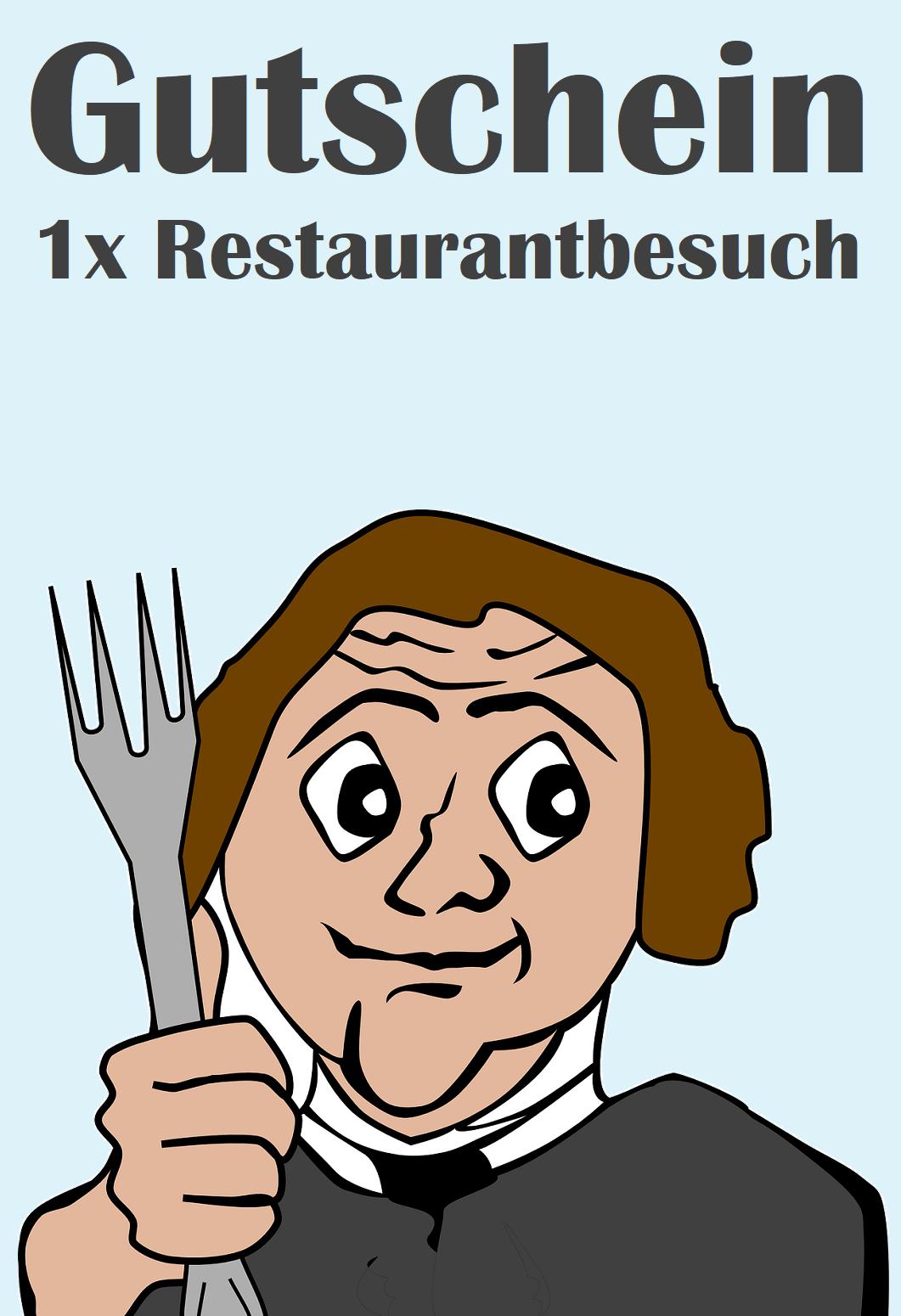 Gutscheinvorlage für Restaurants