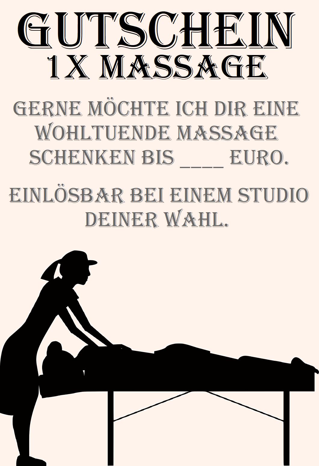 Massagegutscheine Gutscheinvorlagen Gutscheinsprüche