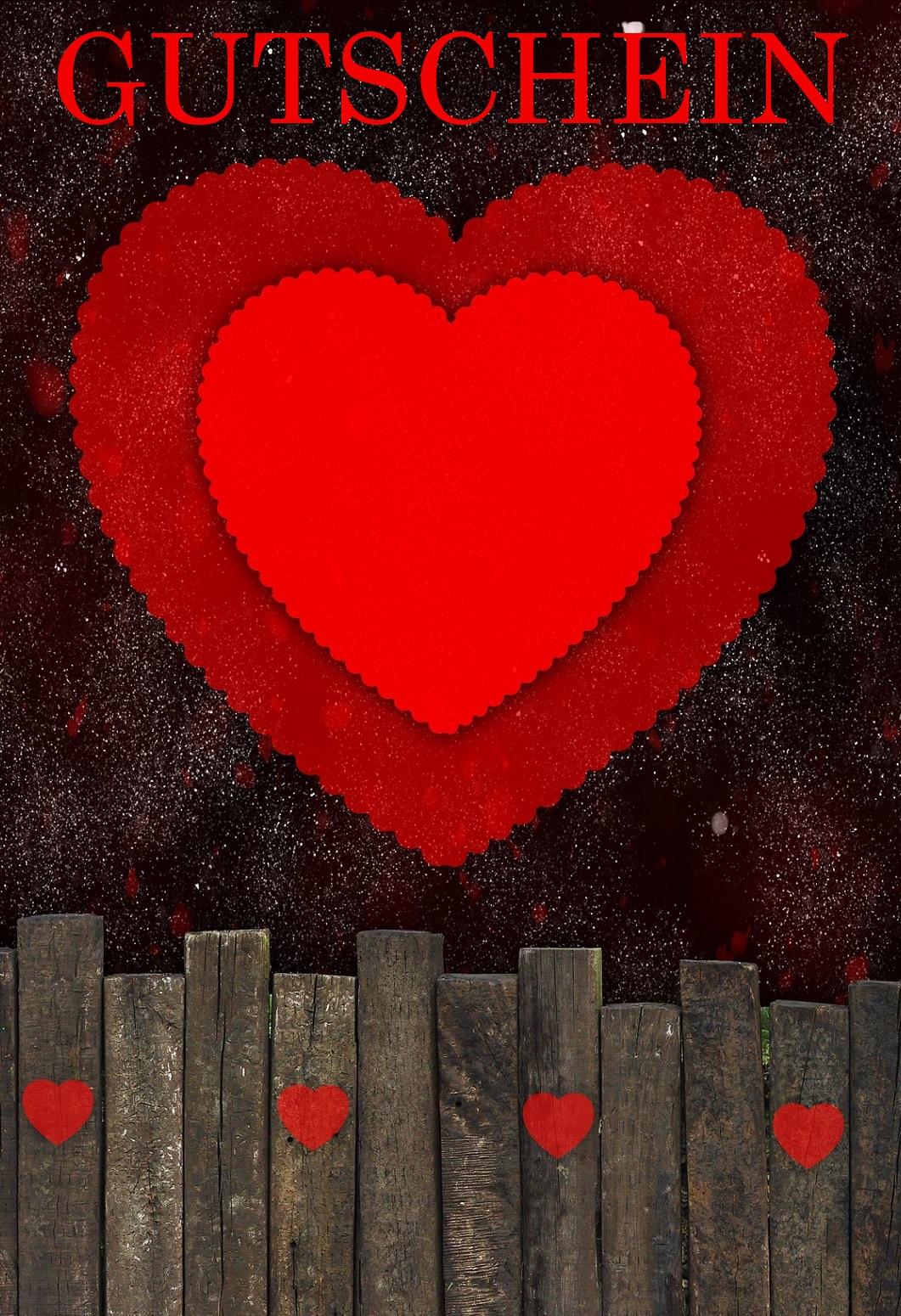 Gutscheinvorlage Valentinstag 2