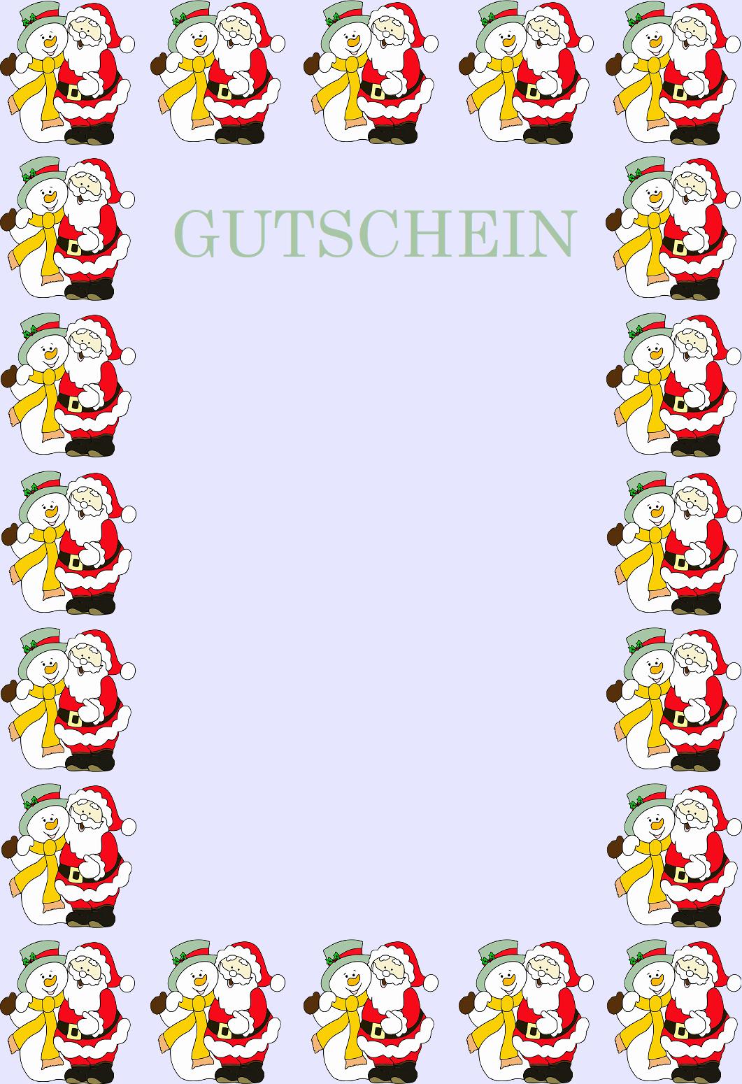 Gutscheinvorlagen Fur Weihnachten Vordrucke Zum Ausdrucken 0