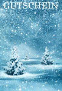 Gutscheinvorlage Weihnachten 1