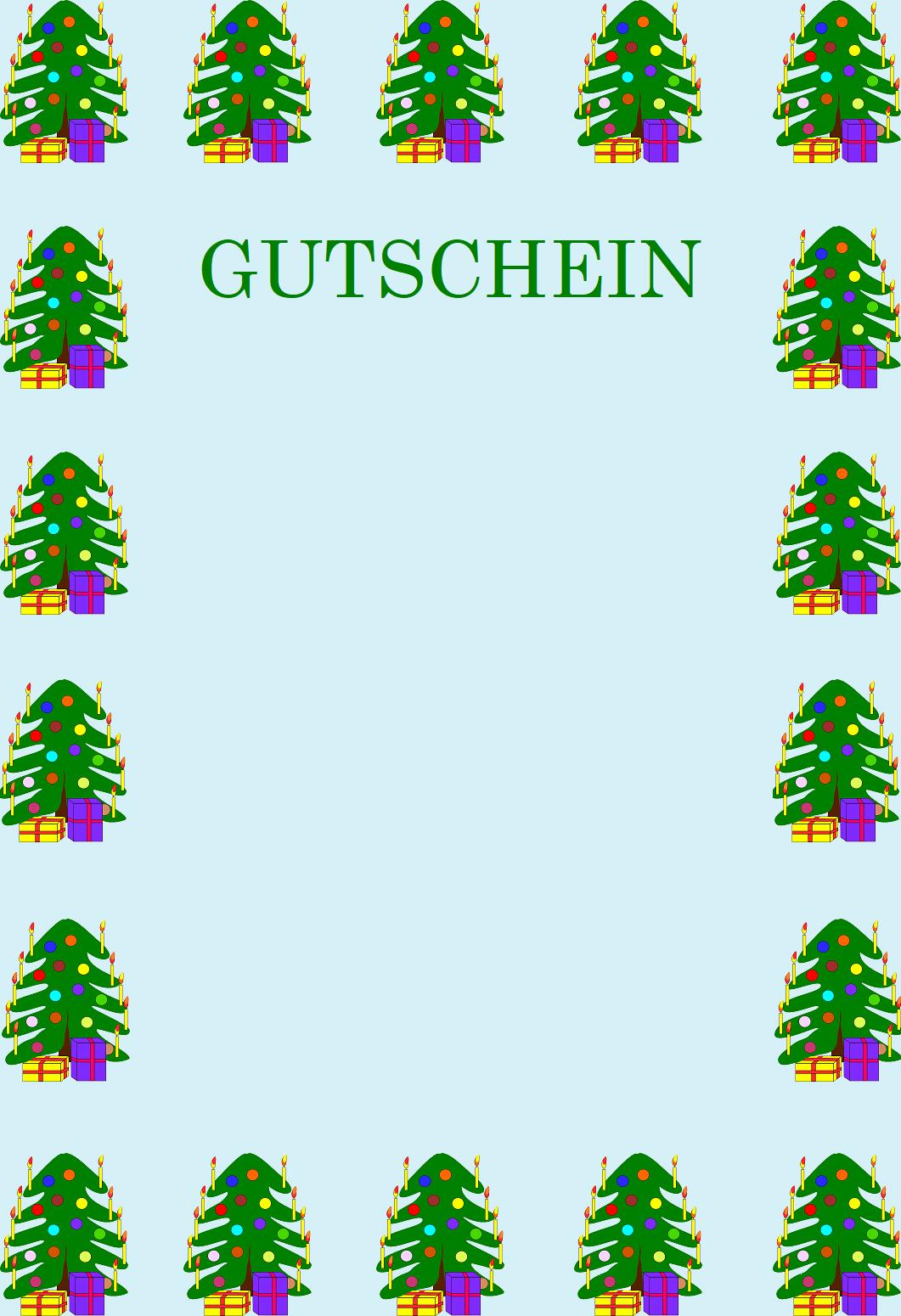 Gutscheinvorlagen zu Weihnachten - Gutscheinspruch.de