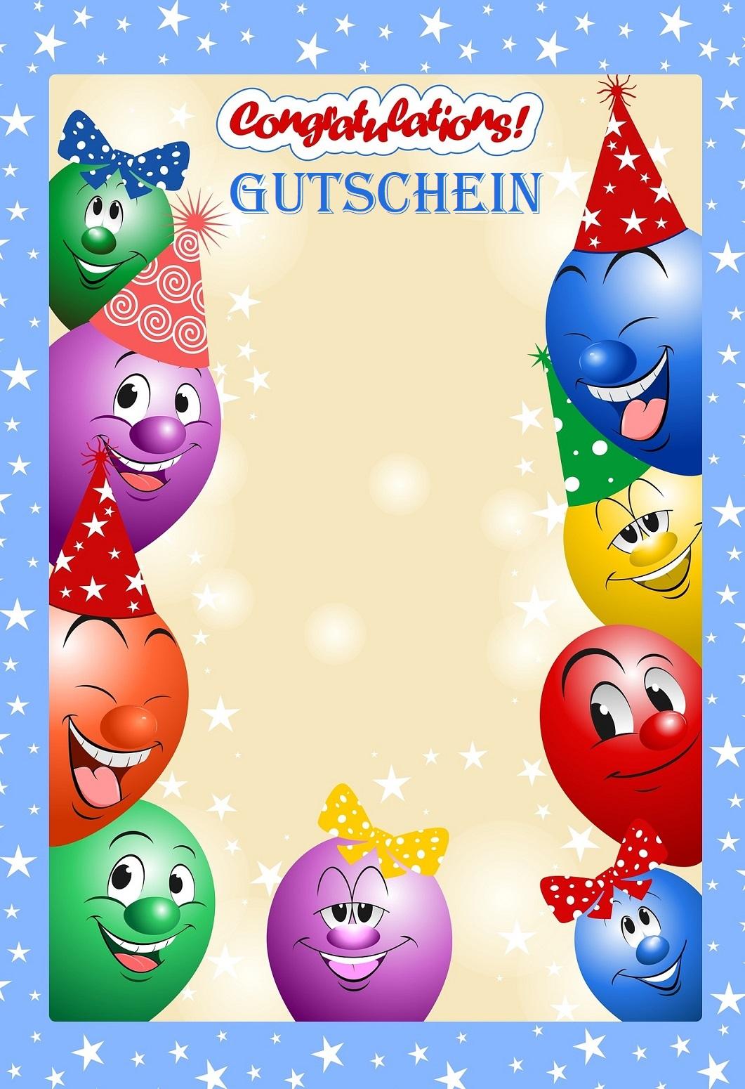 Gutscheinvorlage Geburtstag Gutschein Vorlage 2