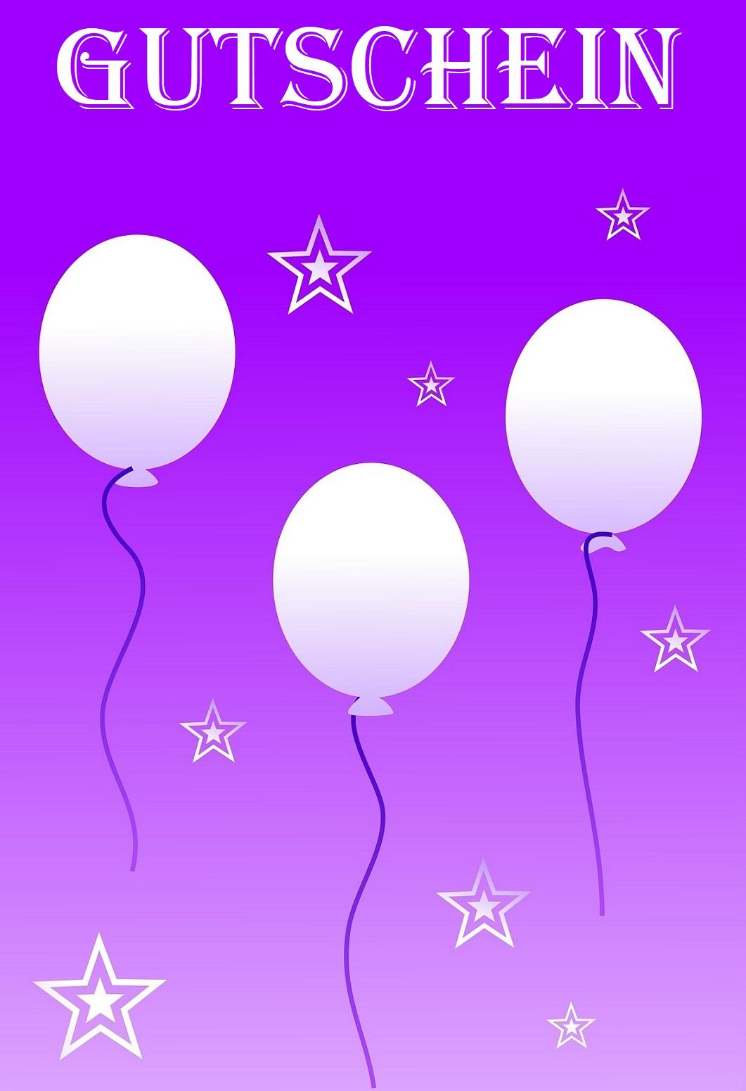 Gutscheinvorlagen Geburtstag 6