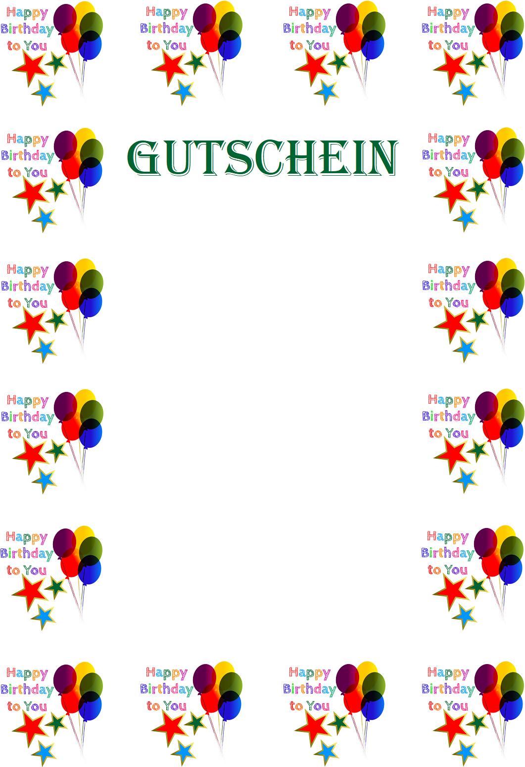 Gutschein Geburtstag Kostenlos Erstellen 9