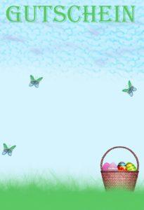 Gutschein Vorlagen Ostern 9