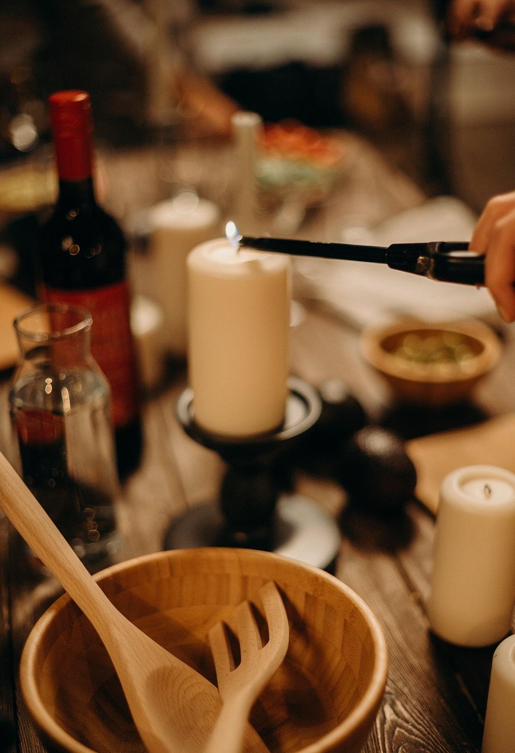 Gutscheinvorlage Candle Light Dinner