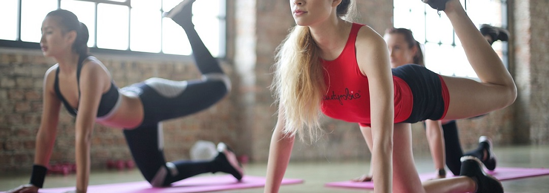 Sportschuhe beim Fitness