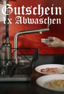 Gutscheinvorlage Abwaschen