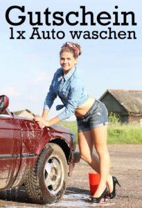 Gutscheinvorlage Auto waschen 1