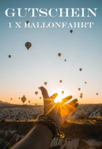 Gutscheinvorlage Ballonfahrt