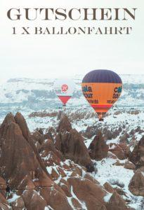 Gutscheinvorlage Ballonfahrten