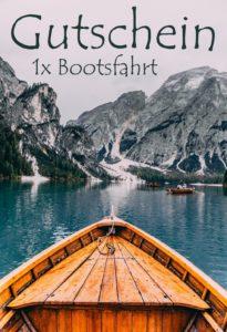 Gutscheinvorlage Bootstour