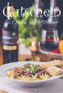 Gutscheinvorlage Candle-Light-Dinner