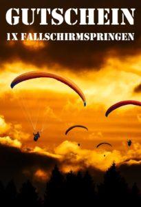 Fallschirmspringen Erlebnisgutscheine