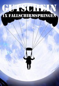 Gutscheinvorlage Fallschirmsprung