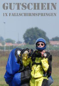 Gutscheinvorlage Fallschirmspringen