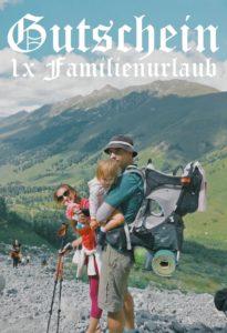 Gutscheinvorlage Familienurlaub