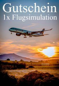 Gutscheinvorlage Flugsimulationen