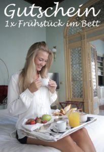 Gutscheinvorlage Bettfrühstück