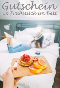 Gutscheinvorlage Frühstück im Bett