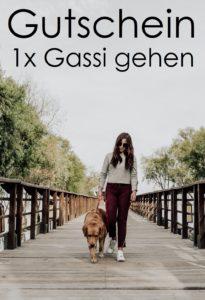 Gutscheinvorlage Gassi gehen